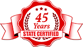 45yrs State Cert Badge